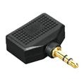 Adaptör 3.5mm Stereo Fiş - 2x3.5mm Stereo Soket