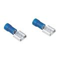 Kablo Bağlantı Ucu Düz 6.3mm Mavi 5 Adet