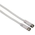 SAT Kablosu F Fiş - F Fiş Beyaz 0.75m