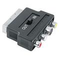 Adaptör S-VHS 4pin/3RCA Soket( In/Out) - Scart Fiş