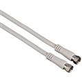 SAT Kablosu F Fiş - F Fiş  Beyaz 3m