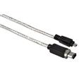Firewire Kablo IEEE1394a 4pin-6pin Transparan 2m