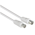 Anten Kablosu Koaksiyel Fiş - Soket  Beyaz 3m