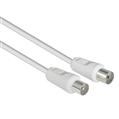 Anten Kablosu Koaksiyel Fiş - Soket  Beyaz 5m