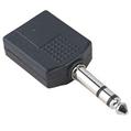 Adaptör 6.3mm Stereo Fiş - 2x6.3mm Soket