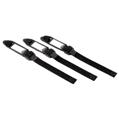 Kablo Düzenleyici Kilitli Şeritler 3 Adet Siyah