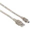USB 2.0 A Fiş - Mini B Fiş Transparan 0.75m