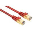 Ağ Kablosu CAT5E STP Altın Uç Kırmızı 3m