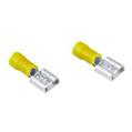 Kablo Bağlantı Ucu Düz 6.3mm Sarı 5 Adet