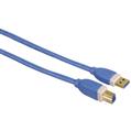 USB 3.0 A-B Altın Uç Mavi 1.8m