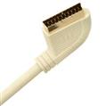 Scart Kablo, Home Seri, Beyaz, 2m