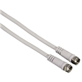 SAT Kablosu F Fiş - F Fiş Beyaz 5m